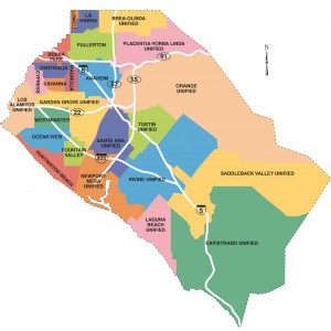 School Districts In California Map.Orange County School Districts Map Catrina Catalano Real Estate