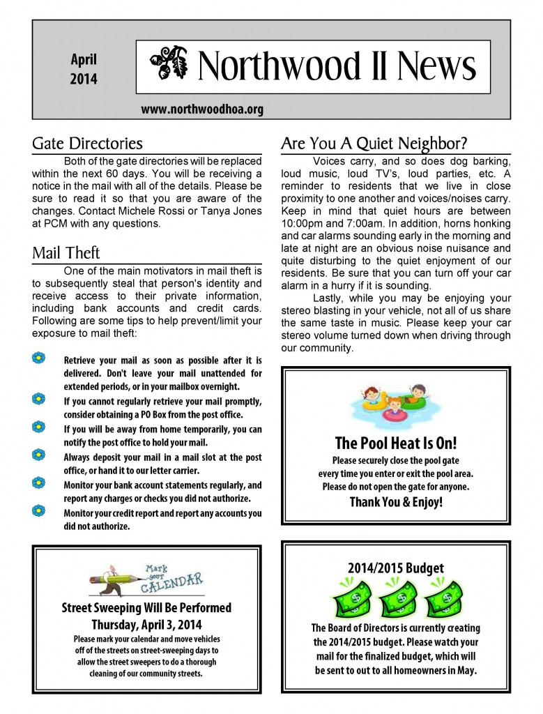 Newsletters - HOA Archives - Page 2 of 6 - Northwood II - Irvine ...