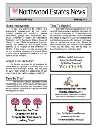 Newsletters - HOA Archives - Northwood II - Irvine, CA 92620 ...
